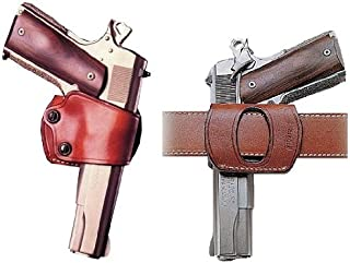 Galco Yaqui Slide Belt Holster for 1911 3-Inch-5-Inch Colt, Kimber, para, Springfield, Kahr, Walther P22