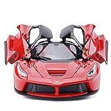 Modelo de coche de carreras 1:24 Y Juego De ferrarii 488 Tapa dura simulación de fundición a presión de aleación de puertas de apertura del coche de deportes de acción detallado Y Pullback Tire Interi