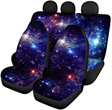 NDISTIN Funny Beautiful Galactic Design Vehicle Seat Protector Car Mat Covers Universal Fit Front Rear Seat Covers for Women Men Elegant Comfort Washing Machine Suitable Fit for Auto Truck Van SUV