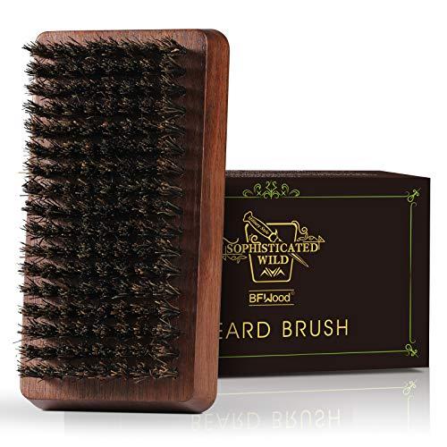 BFWood Cepillo para la Barba de Cerdas de Jabalí -...