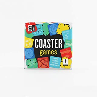 Ginger Fox Coaster Card Game - Tabletop Travel Games Including Activities, Puzzles, Games, Challenges