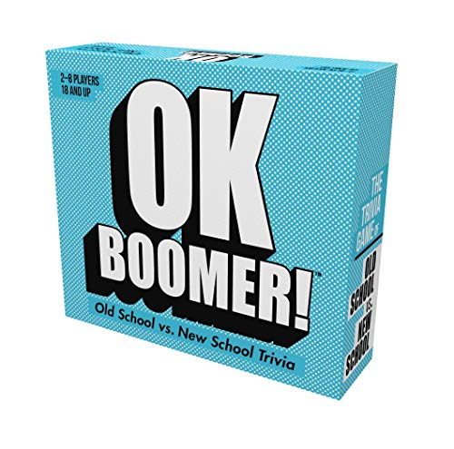 Games Adults Play OK Boomer  The Old School vs New School Trivia Game Blue Sky