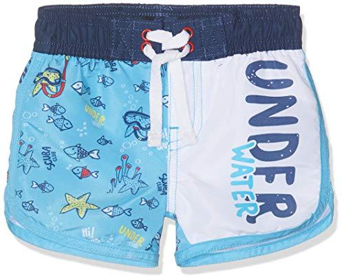Chicco Chicco Baby-Jungen Costume Da Bagno Boxer Boxershorts, Türkis (Azzurro Chiaro 021), 74 (Herstellergröße: 074)