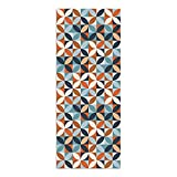 Alfombra Vinílica, Geometría Vistosa, 200 x 80 x 0.2 cm, Multicolor, ALV-110