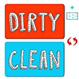 New! Dishwasher Magnet Clean Dirty Sign Waterproof Double Sided Flip Sign Dishwasher Reversible...