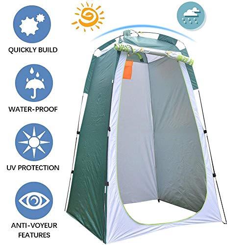 Faltbares Duschzelt, Campingduschzelt, tragbar, Sonnenschutz außen, Toilette, Umkleidekabine für Reisen Wandern im Freien
