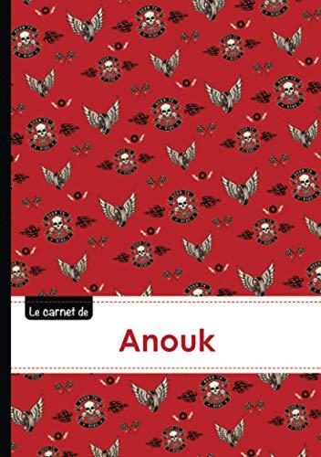Le carnet de Anouk: Le carnet d'Anouk - Lignes, 96p, A5 - Bikers (Adulte)