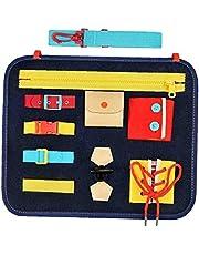 Canjerusof Junta Ocupado niño Educativo de los Juguetes de Fieltro de Aprendizaje Montessori Habilidades básicas de Navidad para niños