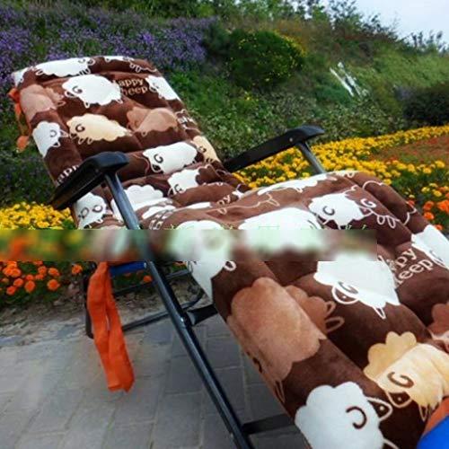 BLSTY Draagbaar opvouwbaar stoelkussen, anti-slip comfort kussen voor schommelstoel, tuinstoel, schommel rugkussen 52x160Cm(20x63Zoll) Aa