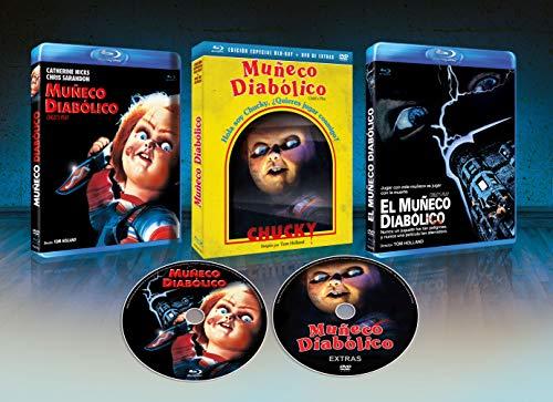Muñeco Diabolico BD + DVD de Extras + Slip Cover 1988 Child's Play [Blu-ray]