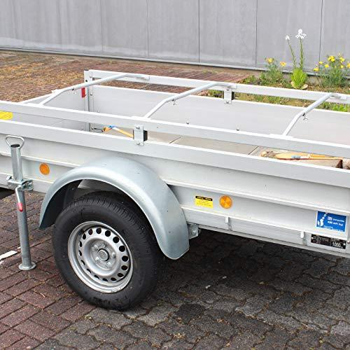 TRUTZHOLM 3X Alu-Bügel für Anhänger Flach-Planen verstellbar 1000-1450mm Planenstütze