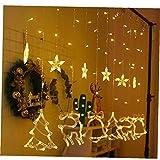 Lámpara De Navidad De Navidad Cortina De La Secuencia Luz Led para El Banquete De Boda del Jardín Dormitorio Decoración por La Ventana