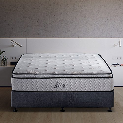 Jacia House King Mattress 11.4 Inches Pillow Top Pocket Spring Hybrid Mattress,...