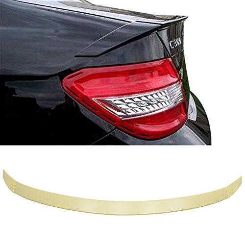 Trunk Spoiler Compatible With 2008-2014 Mercedes Benz W22004 C Class Sedan | 4DR Euro Style ABS Rear Spoiler Deck Lip Wing Bodykits by IKON MOTORSPORTS | 2009 2010 2011 2012 2013