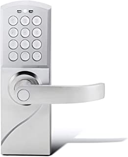 Manhaoya Smart Door Lock Smart Code and Adjustable Hand,Digital Lock,Emergency Key (Right-Hand)