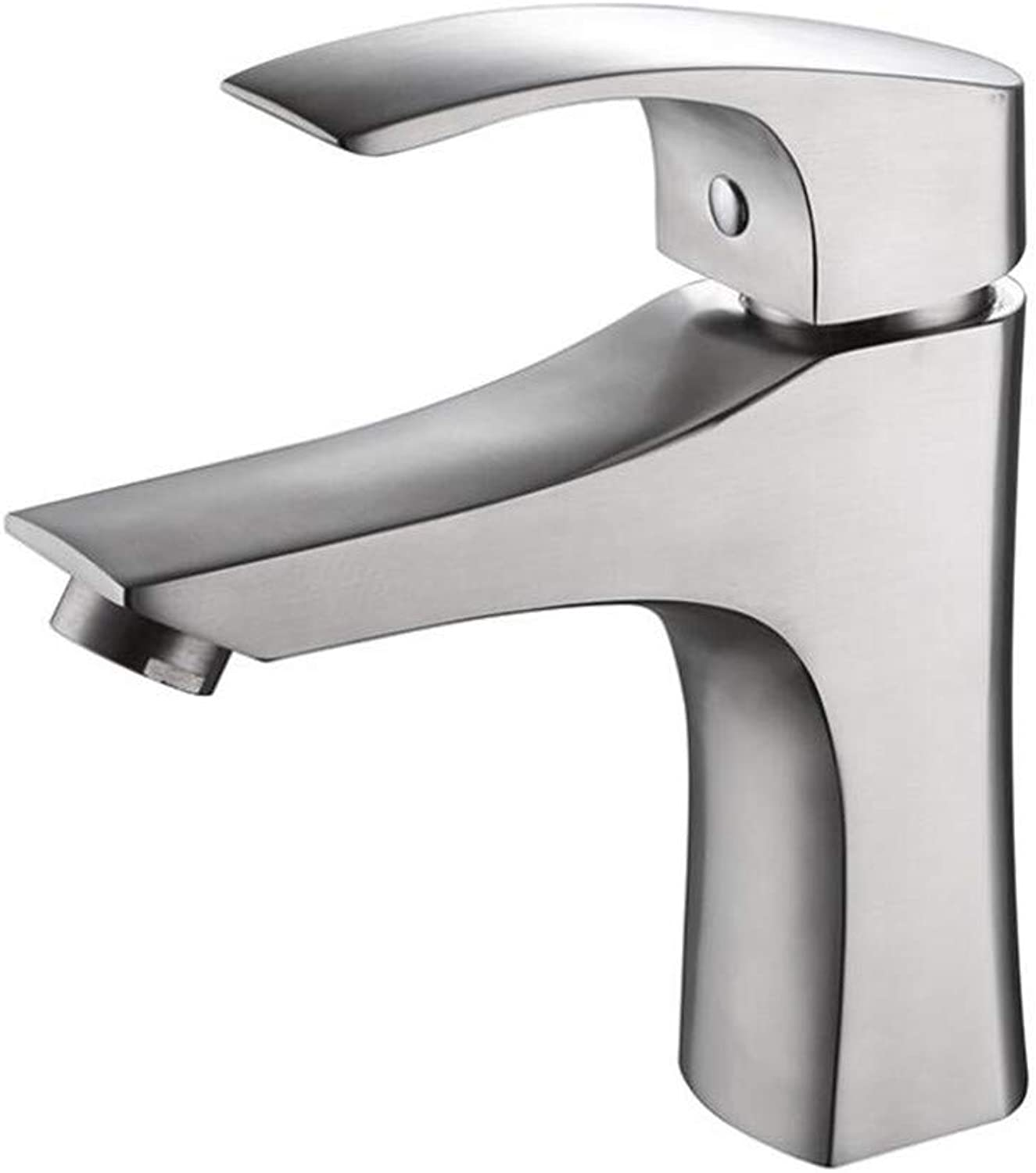 Bathroom Sink Basin Lever Mixer Tap 304 Stainless Steel Lead-Free Kitchen Faucet Cold and Hot Dishwasher Sink Faucet
