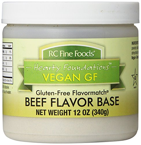 RC Fine Foods Hearty Foundations Vegan Gluten-Free Beef Flavored Base, 12 Ounce