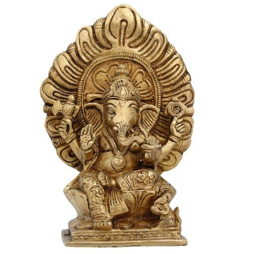 elephant Ganesha Dieu hindou statues hindouisme deite laiton sculpture 18,415 cm