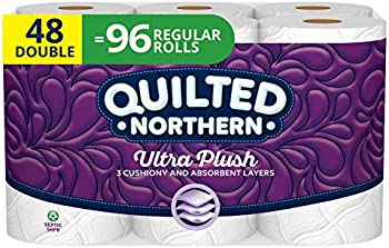 96 Regular Rolls Quilted Northern Ultra Plush Toilet Paper