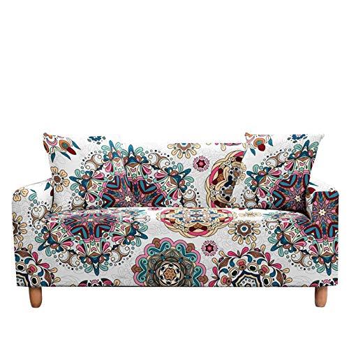 Funda elástica para sofá de estilo bohemio, funda elástica para sillón de 2 a 3 plazas, para decoración del hogar, color de 2 a 3 plazas (190 a 230 cm)