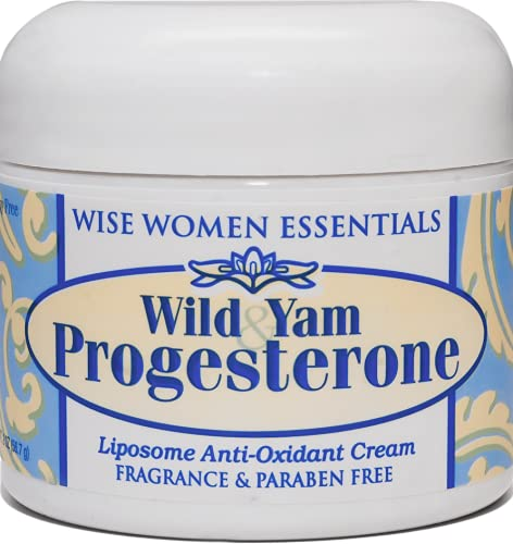 Progesterone Cream Bioidentical May Support Menopause, ttc, PCOS, Plus Wild Yam, Chaste Tree Berry, Paraben Free, Soy-Free, Fragrance Free, Non GMO