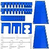 Panorama24 Werkzeugwand Erweiterungsset, bestehend aus 17tlg. Hakenset, blau - Werkzeug-Regal,...