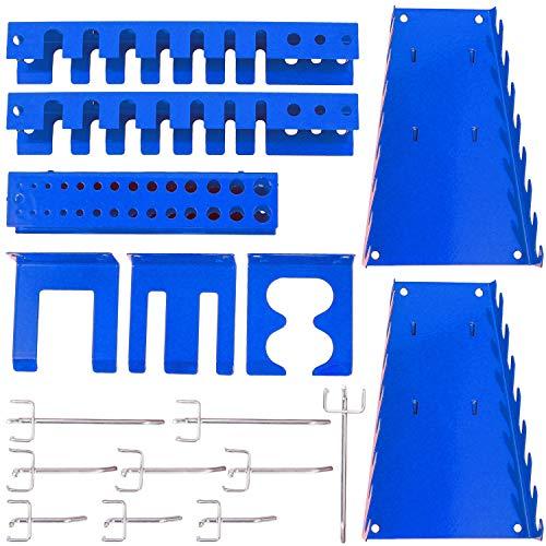 Panorama24 Werkzeugwand Erweiterungsset, bestehend aus 17tlg. Hakenset, blau - Werkzeug-Regal, Lochwand, Werkzeughalter, Lochwandhaken