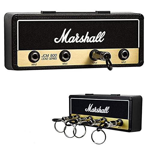 Portachiavi a parete, MYSHELL Portachiavi Jack II Rack 2.0 JCM800 Gancio per amplificatore per chitarra Montaggio a parete Articoli per la casa, con 4 portachiavi, Nero