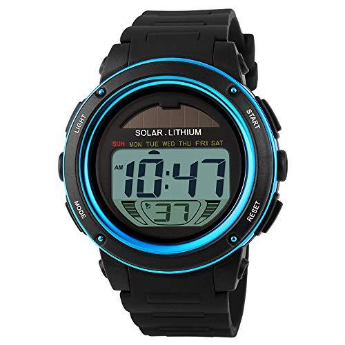 SKMEI Herren Damen Sportuhr Solar Powered Digital Große Zifferblatt Multifunktionale Unisex Armbanduhr mit Chronograph Alarm Hintergrundbeleuchtung