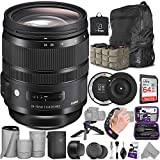 Sigma 24-70mm f/2.8 DG OS HSM Art Lens for Nikon F + Sigma USB Dock with Altura Photo Advanced Accessory and Travel Bundle