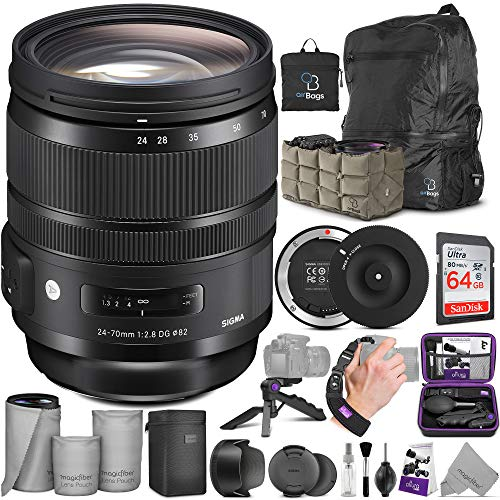 Sigma 24-70mm f/2.8 DG OS HSM Art Lens for Canon EF + Sigma USB Dock with Altura Photo Advanced Accessory...
