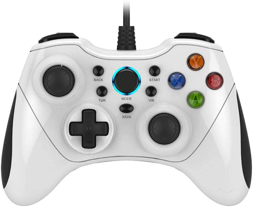 ZXZS Vibration Game Japan's Don't miss the campaign largest assortment Controller Frosted Wired USB Gaming C