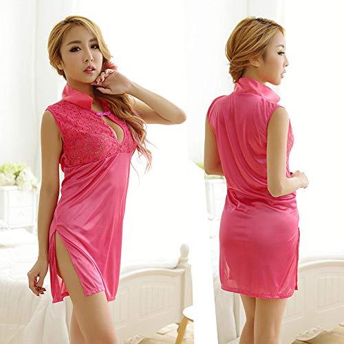 Dames Erotische Bodykousen Erotische Sleepwear & Robe Sets Sexy lingerie sexy pyjama cheongsam dikke kant