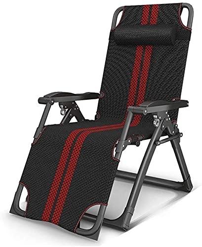 FXBFAG Sillones reclinables de jardín con gravedad cero, tumbona, silla plegable para exteriores, playa, camping, silla portátil de metal (color sin cojín)