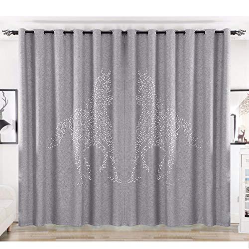 WBXZAL-Rideaux Modern Simple Nouveau Style Chinois Salon, Chambre, Studio, Étage Les Rideaux, Avion Fenêtre, Korean Hollow,240,Et