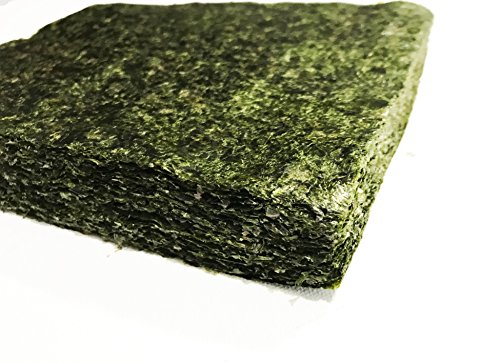 Far Edge Aquatics Bulk Green Seaweed for Fish - Extra Large Sheets (5.10 Oz Approx.) - Stays Intact...