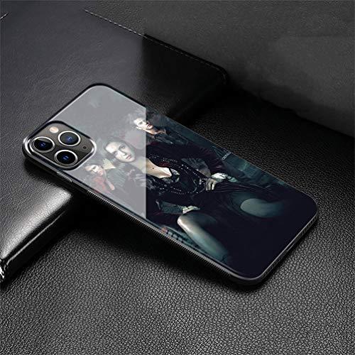Custodia per Telefono for iPhone 11 PRO Max Cover,Vetro temperato Morbido Bumper in Silicone AntiGraffio Paraurti Custodia LB-96 Ian Somerhalder Phone Case