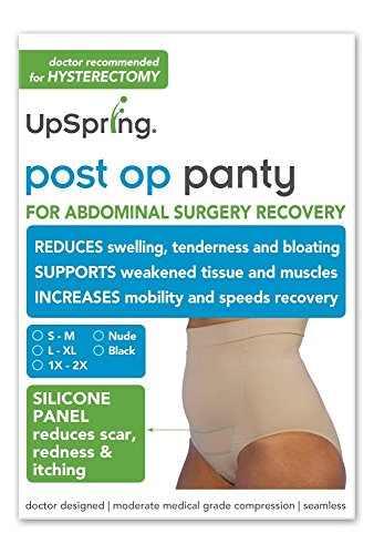 Post Op Panty Compression Plus Silicone Scar Care Hysterectomy Recovery Panty S/M Nude