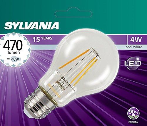 Sylvania SYL0027327 LED-lamp, retro, standaard, glas, E27, 4 W, wit
