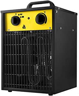 Calentador De Ventilador Industrial De 3Kw Calentador Eléctrico De Baja Energía Cuadrado De Alta Potencia Taller Garaje Calentadores De Ventilador De Oficina Energía Ajustable Y Control De Termostat