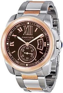 Cartier Calibre De Cartier Chocolate Brown Dial Mens Watch W7100050