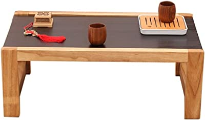 Wooden Coffee Table Living Room Tea Table Balcony Low Table Laptop Table Study Table (Color : Brown, Size : 50x40x30cm)