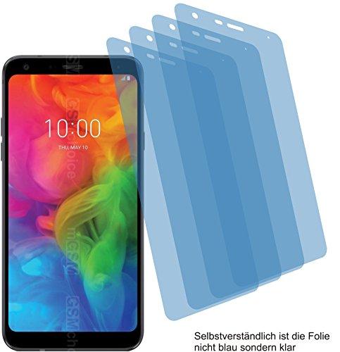 4ProTec I 4X Crystal Clear klar Schutzfolie für LG Q7+ Plus Bildschirmschutzfolie Displayschutzfolie Schutzhülle Bildschirmschutz Bildschirmfolie Folie