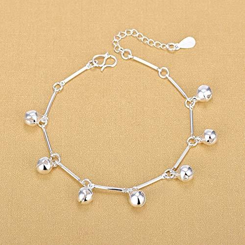Ibralet Armbänder Armband Vintage Mode 925 Sterling Silver Bell Persönliche Sweetie Lovely Charm Armbänder Schmuck Zubehör Festival Geschenke Für Mädchen