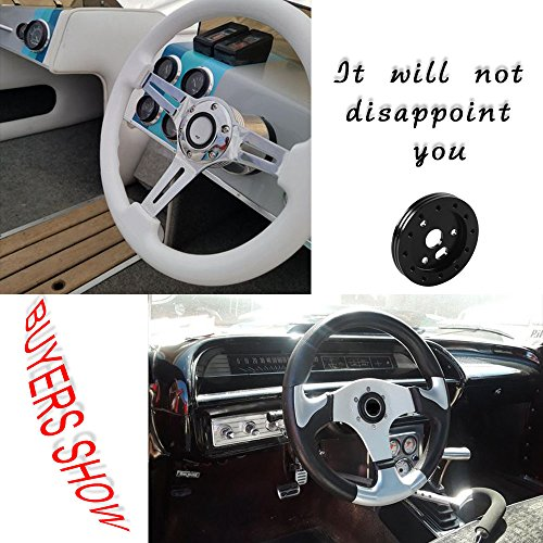 Tasan Racing 0.5 Steering Wheel Hub Adapter Conversion Spacer 6 Hole to 3 Hole Boss Kit Black