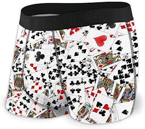 zengdou Mens Underwear Poker Karten Spielen Karten Stretch Classic Fit Boxershorts Shorts No Ride Up Bequem