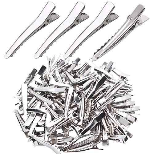 Stahl-Haarclips zum basteln, 100 Stk Alligator Haarspangen Metall Haarklammer Rohling Haarschmuck für Handwerksprojekte - 39mm