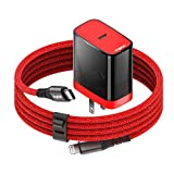 VogDUO Cable Kit, 18W Foldable Power Delivery Wall Charger, and 6Ft MFi Certified USB-C Charging Cable, Compatible with iPad Pro/Mini, iPhone 12/ Pro, MagSafe Charger, PowerBeats, Apple Watch