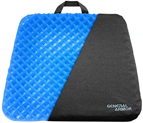 Gel Seat Cushion - Provide Relief for Lower Back, Coccyx, Sciatica,Tailbone or Hip Pain - Airflow Orthopedic Design Chair Pad for Wheelchair, Office Chairs, Prevent Sweaty Bottom 2 INCH