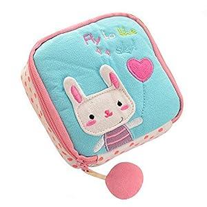 Powerfulline Girl's Cute Cartoon Sanitary Napkin Towel Pads Small Bag Purse Holder Organizer
